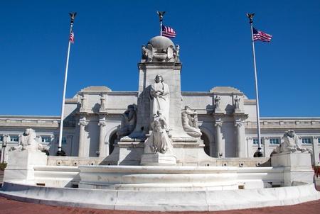 Columbus Fountain near Union Station, Washington DC, USA
