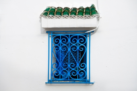 Traditional Tunisian window in Sousse photo