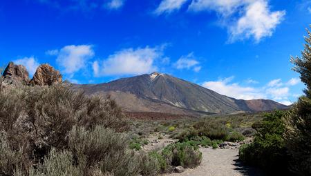 Panoramic image of Pico de teide in Tenerife, Spain