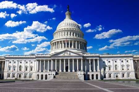 us government: Washington DC, US Capitol Building in a summer day Stock Photo