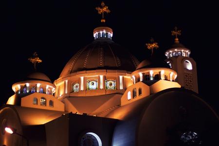 coptic orthodox: El Sama Eyeen - Coptic Church in Sharm El Sheikh, Egypt Stock Photo