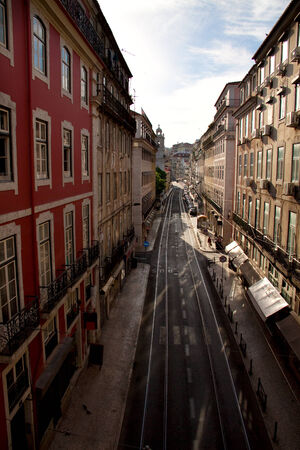 Narrow street in Lisbon, Portugal