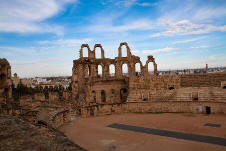Arena of el Djem - the biggest amphiteater in Africa, Tunisia