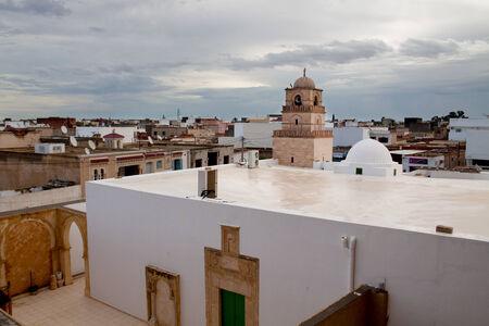 Top view of El Djem city, Tunisia Reklamní fotografie