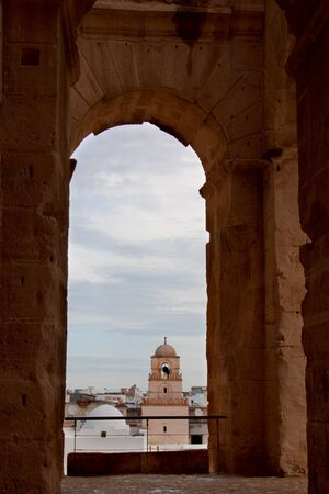 El Djem city view from the Colosseum, Tunisia Reklamní fotografie