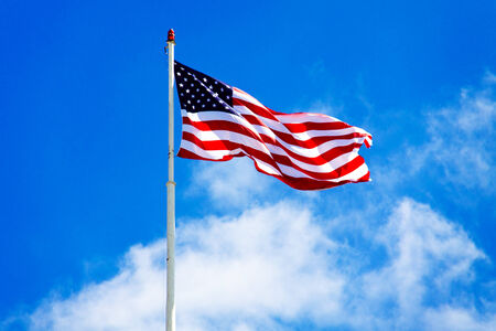 American flag consists of 50 stars and 13 stripes.
