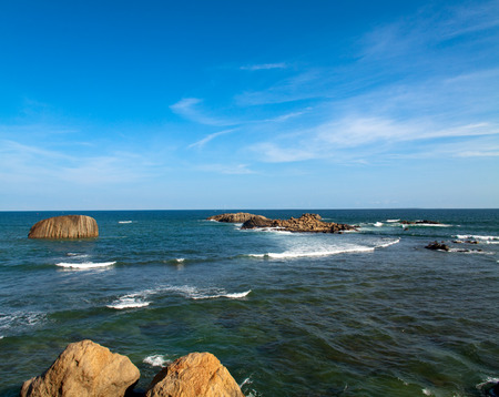galle: The bay of Galle in Sri Lanka Stock Photo