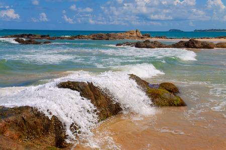 srilanka: Breaking waves in Tangalle, Sri-Lanka