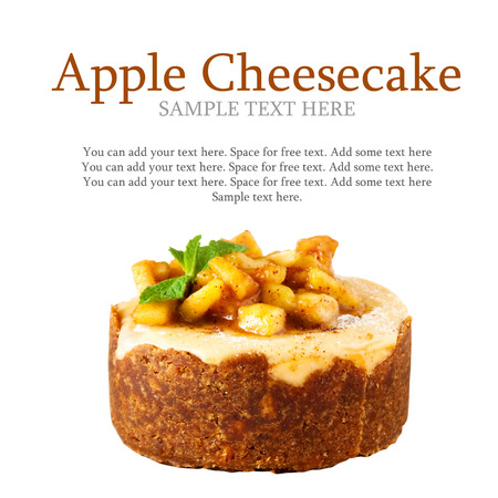 Apple cheececake - food advertisment concept