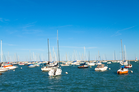 Yachts in Chicago, near Millenium Park Reklamní fotografie