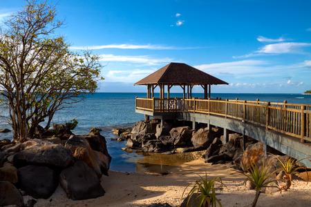 Wedding pavilion over the ocean, Mauritius