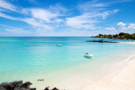mauritius: Amazing sandy beach of Mauritius Stock Photo