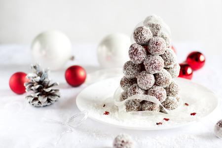 Creative Christmas food - truffles Christmas tree