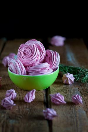 Homemade raspberry marshmallow - zephir