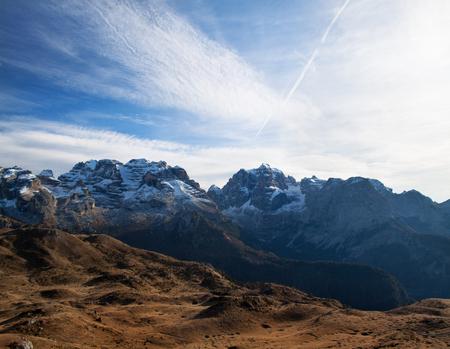Mountains of Madonna fi Campiglio Ski Resort, Italy Reklamní fotografie - 50919138