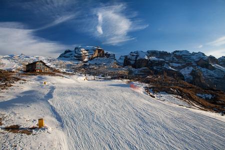 Ski slopes of Madonna Di Campiglio resort, Italy