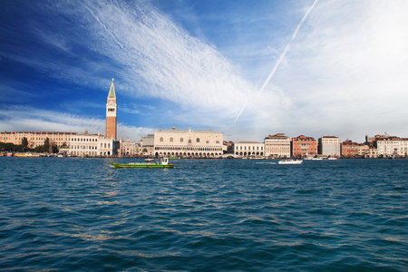 Venice city view from the water, Italy
