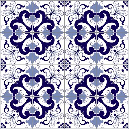bathroom tile: Portuguese seamless pattern