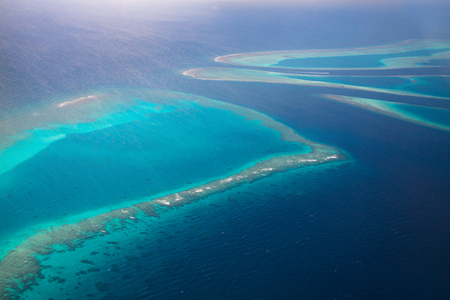 Aerial view of Maldives Islands in Indian ocean Reklamní fotografie - 73003326
