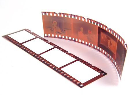 35: Old 35 mm film-strip as placeholder to put images in (isolated)