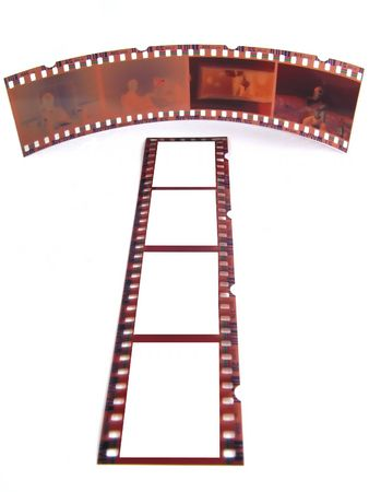35: Old 35 mm film-strip as placeholder to put images in