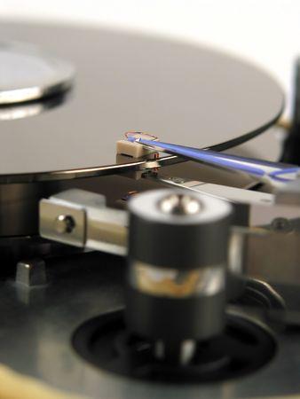 harddrive: Close-up of harddisk technology Stock Photo