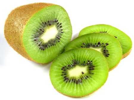lite: A kiwi full of vitamin C Stock Photo