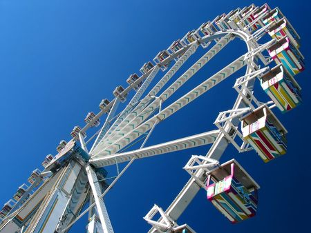 contrasting: The Giant wheel contrasting with a spectcular sky! Stock Photo