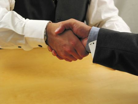 he: handshaking with as... he can only win!