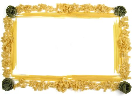 Beautiful frame made out of different pasta types! Stock Photo - 256136