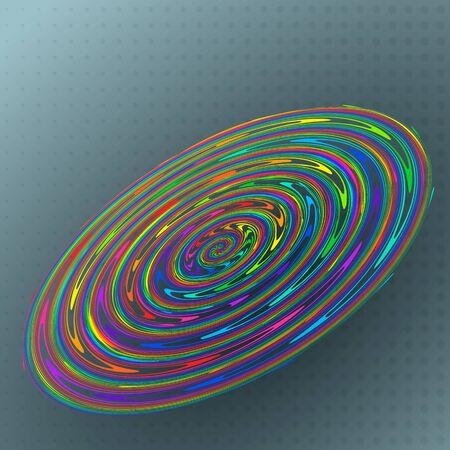 rainbow circle: Vector illustration abstract colorful rainbow circle