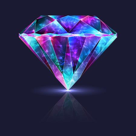 Bright Blue Purple Glossy Crystal Jewelry Zirconium Gemstone