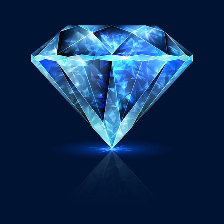 sapphire gemstone: Blue Gemstone Shining Sapphire. Shimmering Crystal Ice.