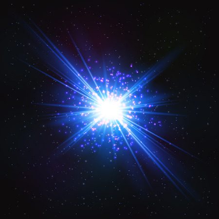 Abstract Shimmering Cosmic Flash Star. Abstract Design Element. Illustration