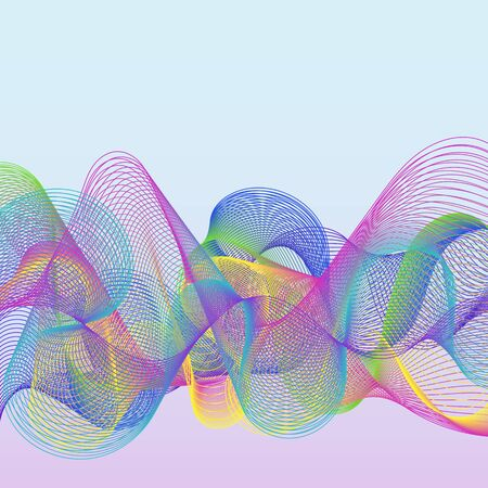 wawe: Simple Colorful Abstract Background with Wawe Lines. Universal Abstraction. Illustration