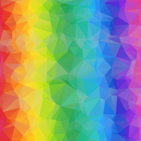 Colorful Geometric Bright Abstract Background of Triangles. Triangular Rainbow Texture. Illustration