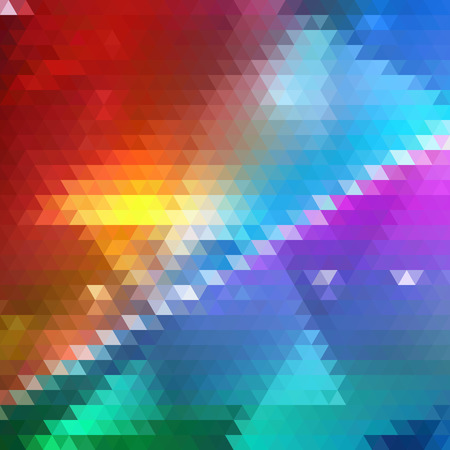 Bright Colorful Geometric Triangle Background. Triangles Theme. Backdrop of Geometric Shapes. Universal Abstraction.