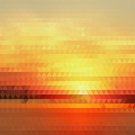 Bright Gradient Abstract Texture of Symmetric Triangles. Background of Geometric Shapes Warm Sunny Colors. Geometric Concept.