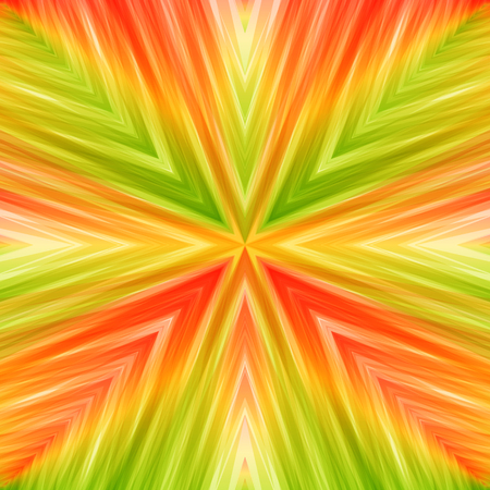 Bright Striped Angular Background of Summer Colors. Colored Texture of Symmetric Intersecting Lines from Center.