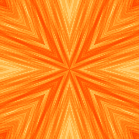 Bright Striped Angular Background of Sunny Colors. Orange Texture of Symmetric Intersecting Lines from Center.