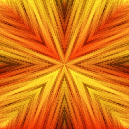 Bright Striped Angular Background of Sunny Colors. Warm Texture of Symmetric Intersecting Lines from Center.
