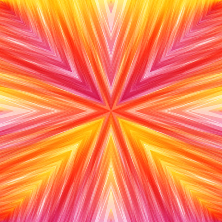 Bright Striped Angular Background of Warm Colors. Texture of Symmetric Intersecting Lines from Center. Illustration