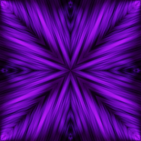 Violet Striped Angular Background of Night Colors. Texture of Symmetric Intersecting Lines from Center.