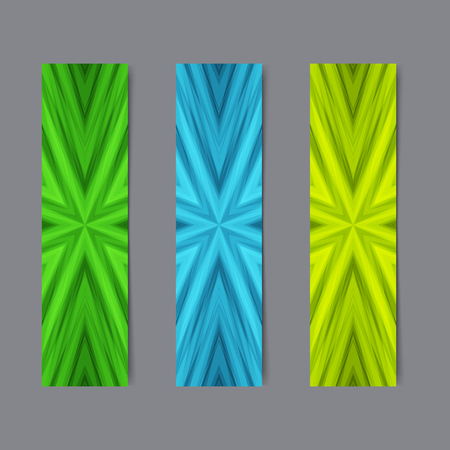 slanting: Set of Light Green and Blue Cards or Banners with Striped Texture. Collection Templates for Text, Message, Flyers, Cards.