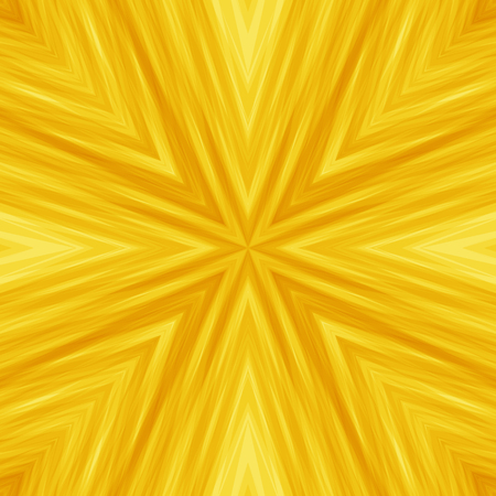 Bright Yellow Striped Angular Background of Sunny Colors. Solar Texture of Symmetric Intersecting Lines from Center.
