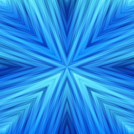 Striped Angular Blue Background. Gradient Texture of Symmetric Intersecting Lines from Center. Illustration