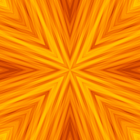 Striped Angular Background of Bright Sunny Colors. Yellow Texture of Symmetric Intersecting Lines from Center.