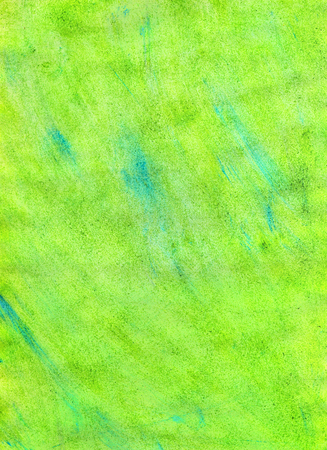 Abstract Textural Green Hand-Drawn Watercolor Background. Aquarelle Texture of Wet Paints. Фото со стока