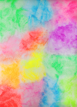 Bright Colored Hand-Drawn Watercolor Background. Colored Aquarelle Texture of Colorful Paint Stains.