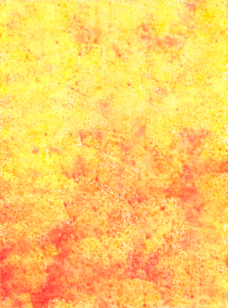 Abstract Textural Yellow Hand-Drawn Watercolor Background. Aquarelle Texture of Wet Paints. Фото со стока